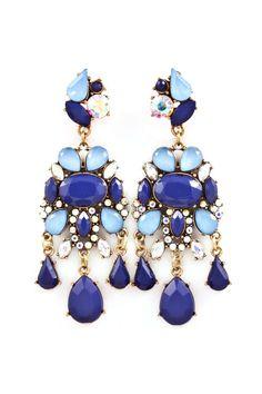 Crystal Fia Chandelier Earrings | Emma Stine Limited