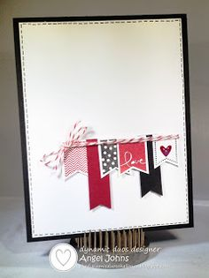 By Angel Johns - Dynamic Duos: Dynamic Duos #84 {Black Tie Week-Black & Cherry with the OPTION of Sparkle!} #stampinup #valentine