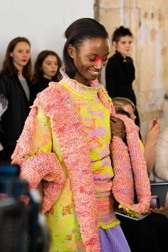 Suzy Menkes is inspired by the fashion parade at the RCA degree show. Knitwear by Jessica Deacon