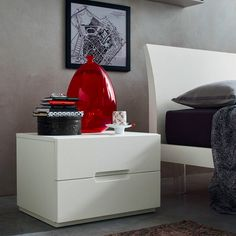 2 Drawers Wooden Nightstand Modern Design Bedside Table By Eglooh