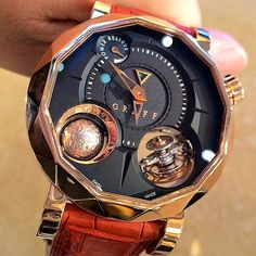 """230 Likes, 6 Comments - Watchlover (@igwatchlover) on Instagram: """"Graff GyroTourbillon pink gold  is this piece developed by MHC? #gyrotourbillon #greubelforsey…"""""""