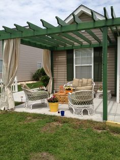 pergola with curtains. Need!
