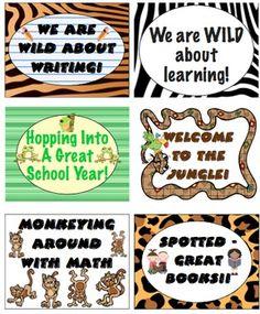 Jungle Theme Back to School Mega Pack