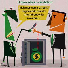Resultado de imagem para eleição e dinheiro  charge