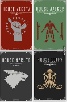 Anime house and their Insignia...