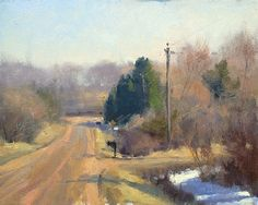 Chilly Spring Day by Marc Hanson Oil ~ 8 x 10