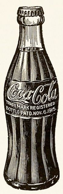 A classic Coca-Cola bottle illustration from 1937
