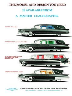 Vintage Cadillac Hearse ad http://www.cannoncadillac.com