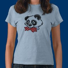 Bow Tie Panda Shirts by fstasu