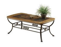 Hillsdale Lakeview Cocktail Table With Wood and Slate Top Price: $294.00