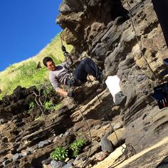 """Most people do find me rappelling. #H50 #climbinghumor #groan #dadjoke"""
