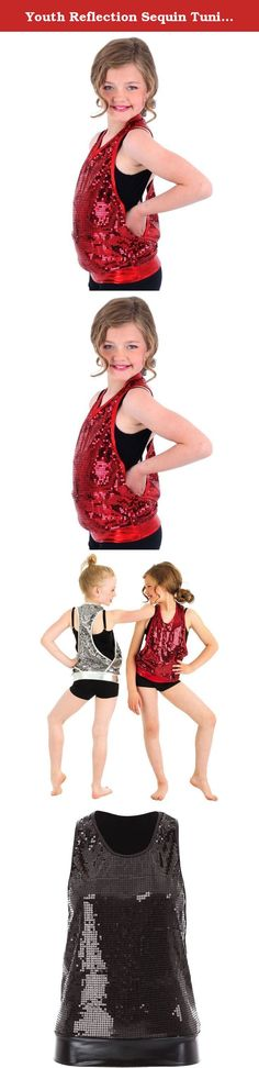 Youth Reflection Sequin Tunic Tank Red Medium. Youth Reflection Sequin Tunic Tank by Gia Mia Dancewear is a favorite performance piece for dancers of all ages. This sequin tunic is available in adult and youth sizes. This sequin tank provides glitz and glamour for any performance. Fabric: Poly/Spandex.