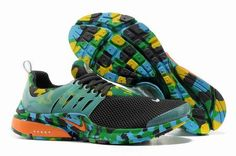 NIKE AIR PRESTO TRAINERS MEN CAMOUFLAGE ANTHRACITE/GREEN-TOTAL ORANGE  $66.38