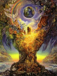 A fantastic poster of fantasy art by British artist Josephine Wall - the Tree of Peace! Check out the rest of our magical selection of Josephine Wall posters! Need Poster Mounts. Josephine Wall, Fantasy Kunst, Fantasy Art, Image Yoga, Art Expo, Elfen Fantasy, Love Oracle, Art Visionnaire, Peace Poster