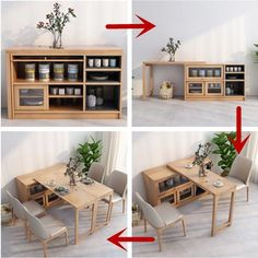 2020 New Design Multifunction Dining Table with Cabinet – good idea products shop Design Tisch, Table Design, Dining Table Small Space, Corner Dining Table, Dining Table With Storage, Folding Beds, Folding Table Desk, Wall Mounted Folding Table, Foldable Dining Table