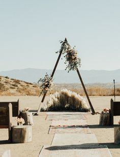 Temecula Hills Wolf Feather Honey Farm Blush Boho Wedding with pampas grass and patterned rugs