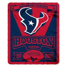 Houston Texans Painted Fleece Lap Blanket....Cuddle up with your favorite NFL team while watching the game, or simply lounging around.