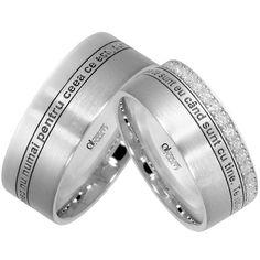 Verighete ATCOM, Lux personalizate DRAGOSTEA MEA aur alb Disney Wedding Rings, Rings For Men, Engagement Rings, Jewelry, Couple Rings, Diamond, Enagement Rings, Men Rings, Wedding Rings