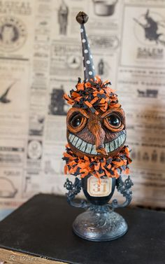 Vintage Inspired HALLOWEEN Hand Sculpted by ThePatchworkAttic
