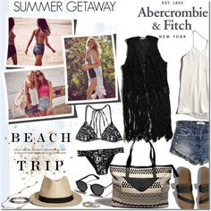 The A&F Summer Getaway Giveaway: Contest Entry by margaretferreira on Polyvore featuring Abercrombie & Fitch, summerstyle, beachstyle and SummerGetaway