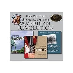 Uncle Rick Reads Stories of the American Revolution Collection CD's $42