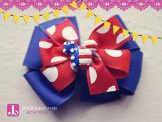 Disney Bow, Disney Hair Bows, Patriotic Bows, 4th of July bows