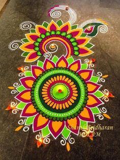 20 Beautiful Diwali Rangoli designs and Kolam designs by Shanthi Easy Rangoli Designs Diwali, Rangoli Simple, Indian Rangoli Designs, Rangoli Designs Latest, Simple Rangoli Designs Images, Latest Rangoli, Rangoli Designs Flower, Free Hand Rangoli Design, Small Rangoli Design