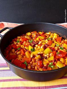 Di pasta impasta: Chili vegetariano di fagioli misti