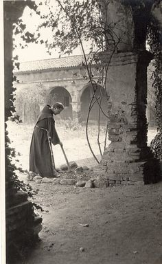 In a Monestery Garden  Mission San Juan Capistrano  1916  (California Digital Library)