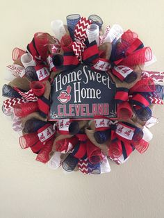 Cleveland Indians Wreath Cleveland Indians by AlwaysLoveTheJourney