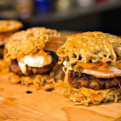 Laz's Spicy Miso Ramen burger is nothing short of a flavor explosion. The miso and Sriracha are brilliant umami combos. Gotta give this one a try.