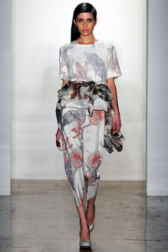Alexandre Herchcovitch Fall 2013 Ready-to-Wear Collection Slideshow on Style.com  Day prints white floral pants shirt