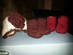Zapatitos tejidos a crochet