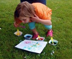 Bubble Painting @Barbara Burgner for Luke