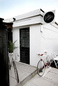 facade of Candy Black Studio - a design company  via - Milk & Honey: A Labor of Love