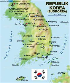 map of south korea - Buscar con Google