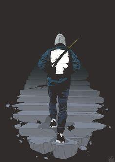NikonOne — walk into the darkness Urban Samurai, Samurai Art, Dragon Wallpaper Iphone, Avatar, Trippy Designs, Dope Cartoon Art, Black Anime Characters, Graphic Wallpaper, Fanart