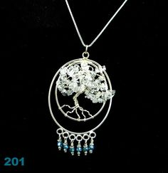 Quartz Crystal Tree of Life pendant with Crystals by Krystalins, $65.00