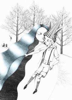 """Pinocchio"" by Francesca Sai Miss Piggy, Pinocchio, Rise Of The Guardians, Dark Ages, Archetypes, Faeries, Fairy Tales, Folk, Illustration Art"