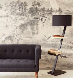 sofacompany.com brings you Danish designed original furniture...   Harry 2-seater in Olena Antracit with Walnut Stained Legs Seater, Furniture, Wall Murals, 2 Seater Sofa, Wall Treatments, Wall, Coffee Table, Home Decor, Cream Walls