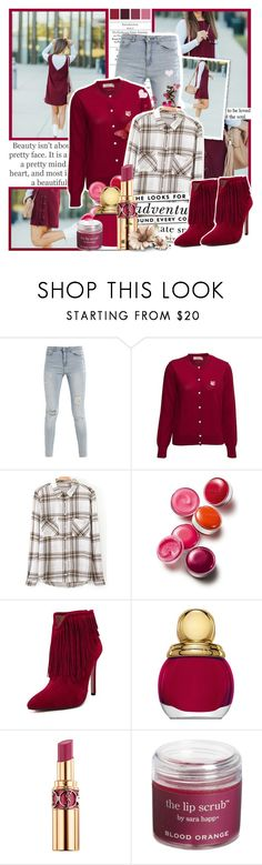 """Don't let small minds convince you otherwise"" by blogsxbrands ❤ liked on Polyvore featuring GET LOST, Maison Kitsuné, Clinique, Kate Spade, Christian Dior, Yves Saint Laurent and Sara Happ"