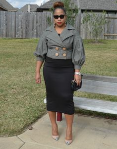 DIY CROPPED HERRINGBONE JACKET