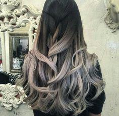 Black to white, grey, ombre