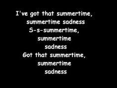 Lana Del Rey Summertime Sadness (lyrics)