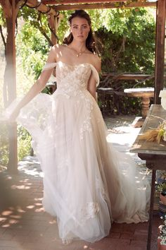 Shop a great selection of Willowby Maudie Off Shoulder Lace & Tulle Wedding Dress. Find new offer and Similar products for Willowby Maudie Off Shoulder Lace & Tulle Wedding Dress. Soft Wedding Dresses, How To Dress For A Wedding, Tulle Wedding, Boho Wedding, Bridal Dresses, Wedding Gowns, Wedding Ideas, Wedding Suite, Wedding Stuff