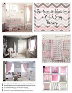 Pink and Gray Nursery Ideas for Baby Girls www.frostedevents.com