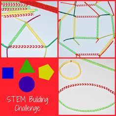 SHAPES! A STEM Building Challenge for Kids!