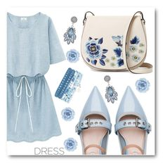 """Dress"" by angelstar92 ❤ liked on Polyvore featuring Miu Miu, French Connection, Monsoon, dress and dreamydresses"