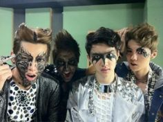 kris, xiumin, d.o y luhan - exo mama (behind the scenes) We Heart It Exo Xiumin, Kpop Exo, Scary Makeup, Halloween Face Makeup, Exo 12, Kim Jongdae, Exo Memes, Daesung, Korea