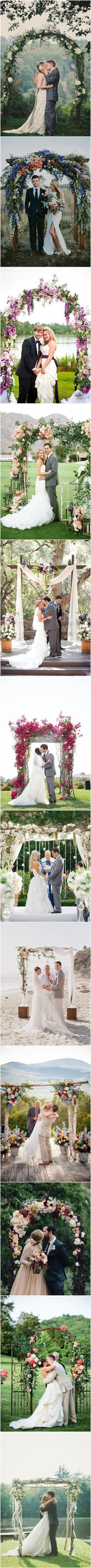 Rustic Wedding Ideas - 26 Floral Wedding Arches Decorating Ideas http://www.deerpearlflowers.com/26-floral-wedding-arches-decorating-ideas/: